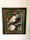 "Hunt Slonem ""Birds & Roses""Amazing piece of Art,it Shows at ELLE DECOR MAGAZINE"