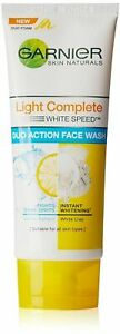 Garnier Skin Naturals Light Complete White Speed Duo Action Face Wash 100g + FSW