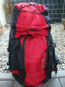 SALEWA Wander-Trekking-Tourenrucksack 50+10 Liter Schwarz-Rot Nur 2x benutzt