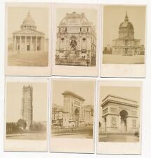 Lot of 21 Famous and Historic Photos of Landmarks in Paris 1860's CDV SET