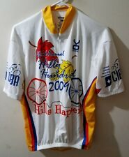 White VOMAX 2009 42nd Annual HILLY HUNDRED Cycling Jersey Man XL