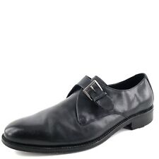 Cole Haan Mens Air Madison Black Leather Monk Strap Dress Oxfords Size 12 M*