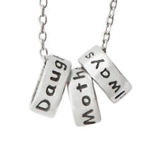 Mother Daughter Ring Necklace Word Jewelry Silver Pewter Always Inspirational