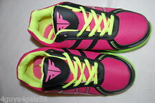 Womens Athletic Shoes HOT PINK BLACK NEON GREEN Lt Weight ACTION FLEX Sneakers 6