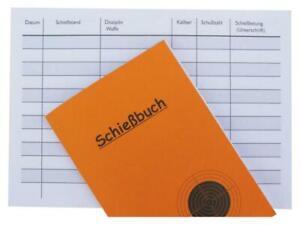 Schießbuch als Nachweis für Behörde DIN A6 - PORTOFREI