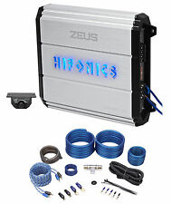 Hifonics Zeus ZXX-1200.1D 1200W Mono Block Class D Car Audio Amplifier + Amp Kit