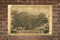 Vintage East Boston Print, Aerial East Boston Photo, Vintage East Boston MA Pic,