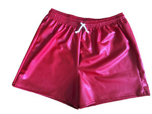 MENS WET LOOK RUBBER  SHORT SHORTS AS SUPPLIED TO LOVE ISLAND  FOOTBALL S - 6XL