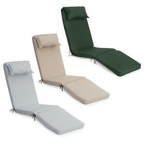 Outdoor Deck Sun Lounger Garden Cushion Seat Pad Steamer Patio Pool Recliner