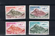 Andorre poste aérienne 5 à 8 non dentelés neufs sans gomme 1961