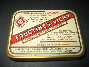Antique Metal Box Of Pharmacy Fructines - Vichy