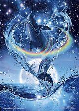 Epoch Jigsaw Puzzle 07-702 Lassen Precious Love Dolphins (500 Pieces)