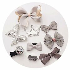10pcs Hair Clips for Baby Girls Kids Toddler Cute Bowknot Crown Hair Barrette...