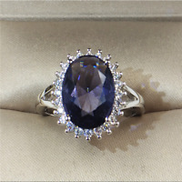 Gorgeous 5ct Oval Cut Sapphire CZ Wedding Ring 925 Silver Women Wedding Jewelry