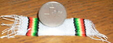 Serape Blanket Extra Small White 1:12 Dollhouse Mexican Miniature Table Runner