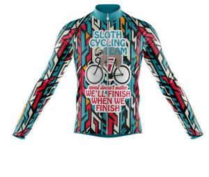 Sloth Cycling Team V1 Novelty Cycling Jersey Long Sleeve