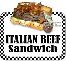 Italian Beef Sandwich DECAL (CHOOSE YOUR SIZE) Food Truck Concession Sticker