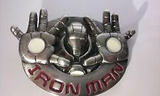 Marvel Comics Iron Man Movie Face and Name Hands Firing Beams Metal Belt Buckle