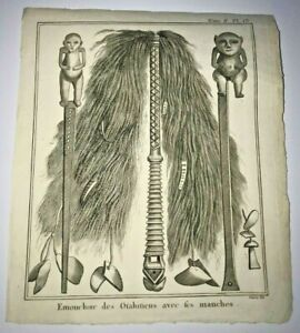 TAHITI INSTRUMENTS 1774 JAMES COOK ANTIQUE ENGRAVED PLATE 18TH CENTURY