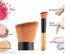 Makeup Brush Tool piatto angolare in legno Fondotinta Liquido Polvere Contour TERRA ABBRONZANTE UK