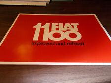 1960s Fiat 1100 12-page Sales Catalog