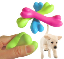 Rubber Dog Chew Bone - Puppy Teething Tooth Health Silicone Play Toy 12cm