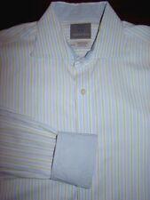 Thomas Dean Striped Dress Shirt Contrasting Flip Cuffs Mens 16.5 XL Extra Long