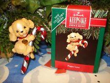 """1991 Hallmark """"Puppy Love* Series Ornament - Cocker Spaniel - 1st in series"""