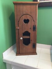 Vintage Wooden Knick Knack Hanging Display Wall Shelf/With Heart Cut Out