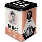 Teedose Tea First Vorratsdose Metall Hoard Box Metal neu