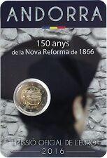ANDORRA 2 Euro 2016 Aniv. Nueva Reforma de 1866 (S/C) ANDORRA 2016 Réforme
