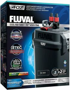 Fluval 407 External Power Filter Includes Media - Free Next Day Delivery