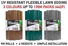 More details for garden lawn border edging separator, 9m long, green/ grey/ brown, 10-25cm high