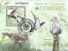Timbre Oiseaux Pigeons Comores BF203 o année 2009 lot 19454 - cote : 21 €