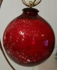 Kugel Style Red Glass🎄Christmas🎄 Ball/Bulb/Ornament Heavy