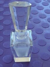 Vintage Cut Crystal Glass Perfume Bottle