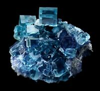 387.6g Large Particles Blue Cube Fluorite Crystal Mineral Specimen/China