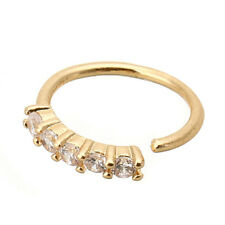 Crystal Nose Ring Ear Hoop Tragus Helix Cartilage Earring Gold/Silver/Rose Gold