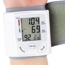 Digital LCD Wrist Blood Pressure Monitor Heart-Beat Rate Pulse Meter Measure USA