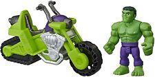 Playskool Heroes Marvel Hulk Smash Tank, 5-Inch Figure and Motorcycle Set