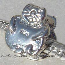 Biagi Bead Sterling Silver, Happy Cat Bead Designer Fashion Charm Jewelry BS240