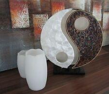 """Design Stehleuchte 30cm natur """"Ying Yang"""" Tisch Leuchte Lampe""""Top Design"""" 4459"""