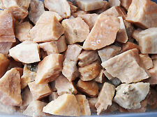 2 LB PEACH MOONSTONE Rough Rock for Tumbling Tumbler Stones 4500+ CARATS