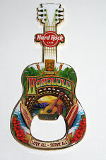 2013 HONOLULU HAWAII Hard Rock Cafe bottle opener MAGNET GUITAR SURFBOARD TIKI
