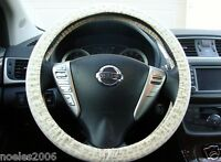 Hand Made Steering Wheel Covers Spiritual Cross and Ichthys Print