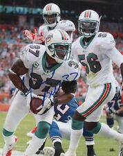 Yeremiah Bell Miami Dolphins Football SIGNED 8x10 Photo COA!