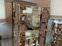Tuscany Vanity Mirror Filled With Swarovski Crystals