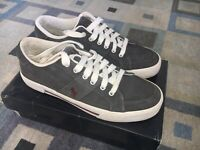 Polo Ralph Lauren Men's Sport Grey Suede Sneakers Size 8