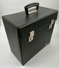 "USED Vintage 12"" Vinyl LP Record Storage Box Carry Case Split Edges Fastens Fine"