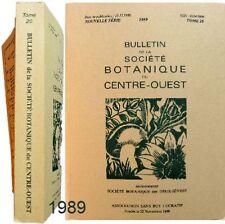 Bulletin Sté Botanique Centre-Ouest 20/1989 flore mycologie bryologie Normandie